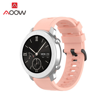 20mm 22mm Sporta Silikona Watchband par Amazfit VTN 42mm 47mm Samsung Galaxy Skatīties Active2 S2 S3 Huawei GT 2 Garmin Siksna Band