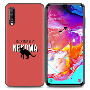 Silikona TPU Case Cover For Samsung Galaxy A50 A80 A70 A40 A30 A20 A10 A51 A71 A11 A21 Piezīme 8 9 10 Plus 5G 10Lite Haikyuu Nekoma